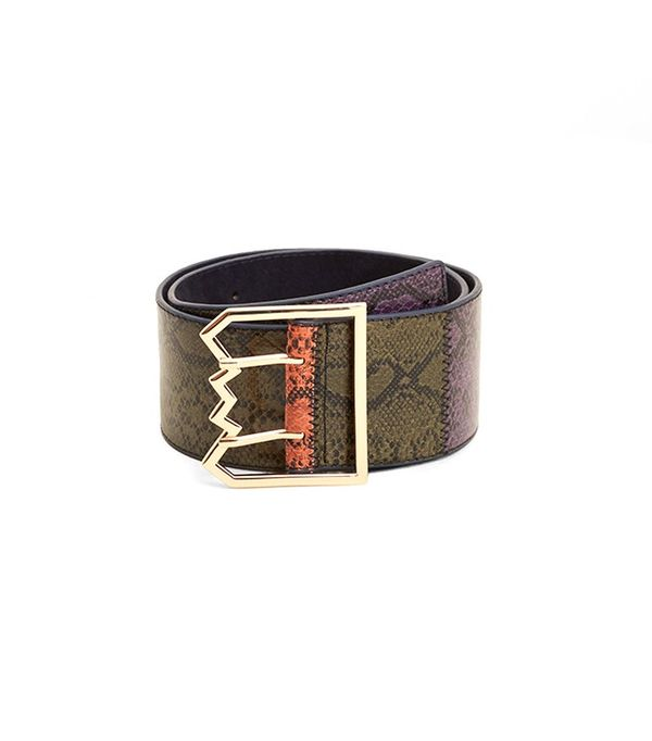 Mango Snake-Effect Belt