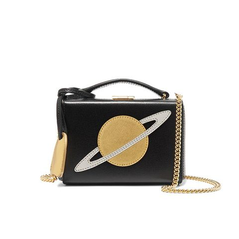 Grace Mini Textured-Leather Shoulder Bag