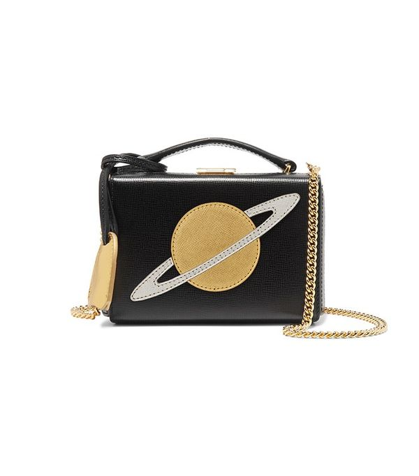 Mark Cross Grace Mini Textured-Leather Shoulder Bag