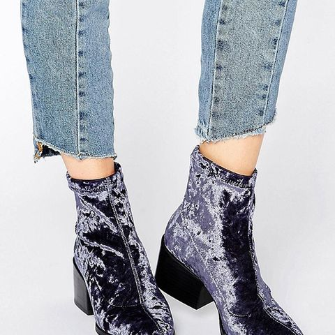 Rocco Pointed Velvet Sock Boots