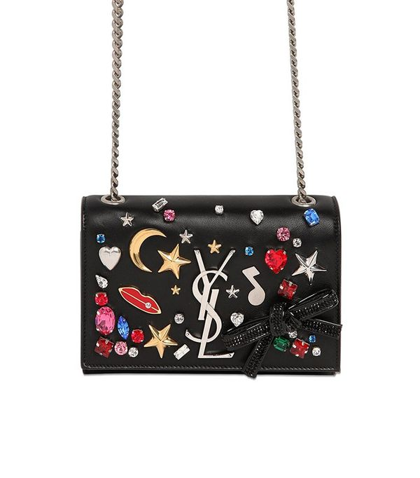 Saint Laurent Small Kate Monogram Embellished Bag