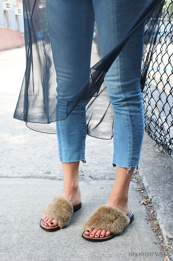 Let me tell you right now that there's nothing more comfortable than fuzzy sandals. It's like enveloping your feet in little cozy pillows, but unlike Uggs, your feet can still breathe. Genius,...