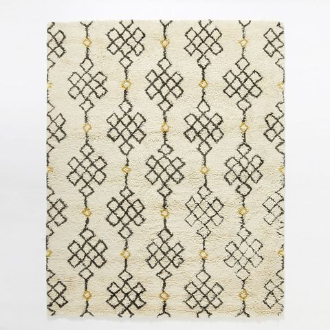 Fes Wool Shag Rug - Ivory / Slate