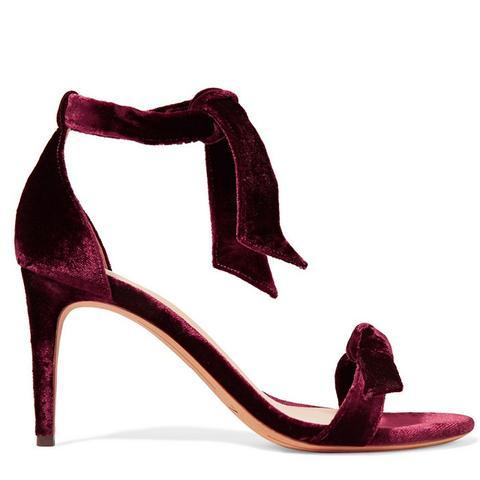 Clarita Velvet Sandals