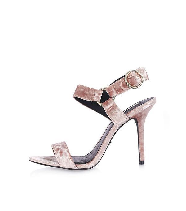 Topshop Velvet 2Part Sandals