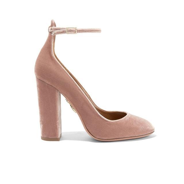 Aquazzura Alix Velvet Heels