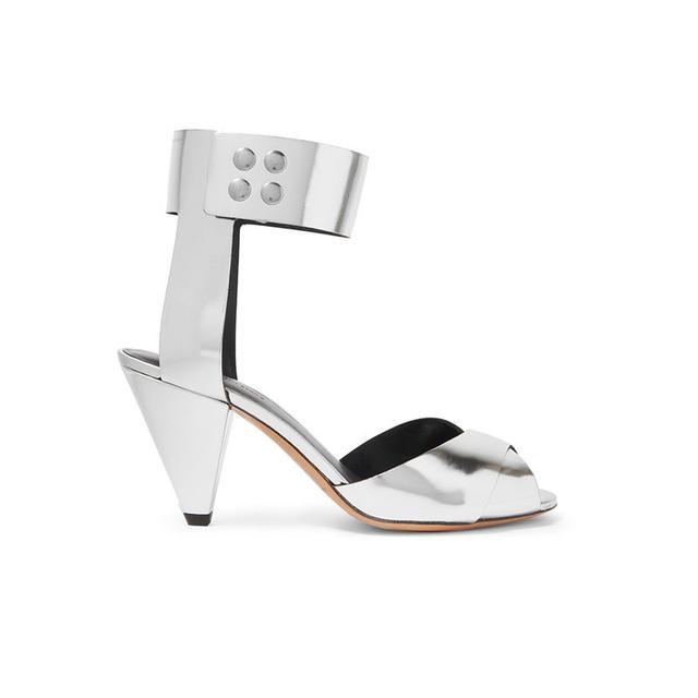 Isabel Marant Étoile Meegan Mmetallic Leather Sandals