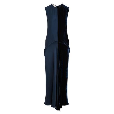 Graziella Satin and Velvet Maxi Dress
