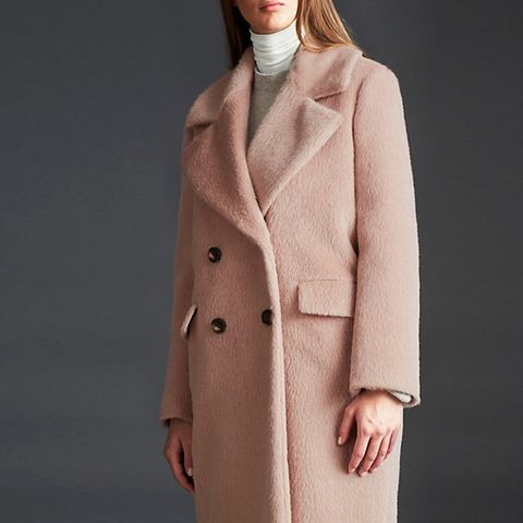 Curved Cocoon Coat