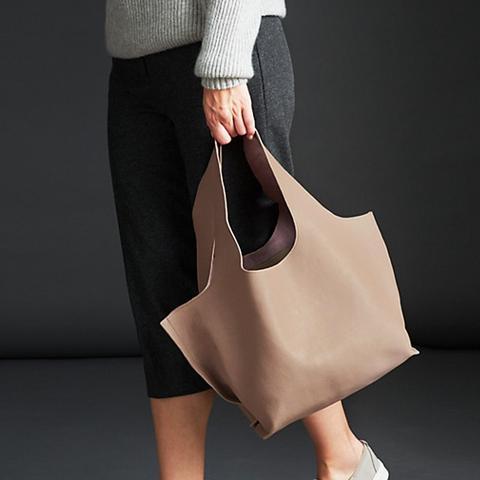 Ebony Leather Shoulder Bag