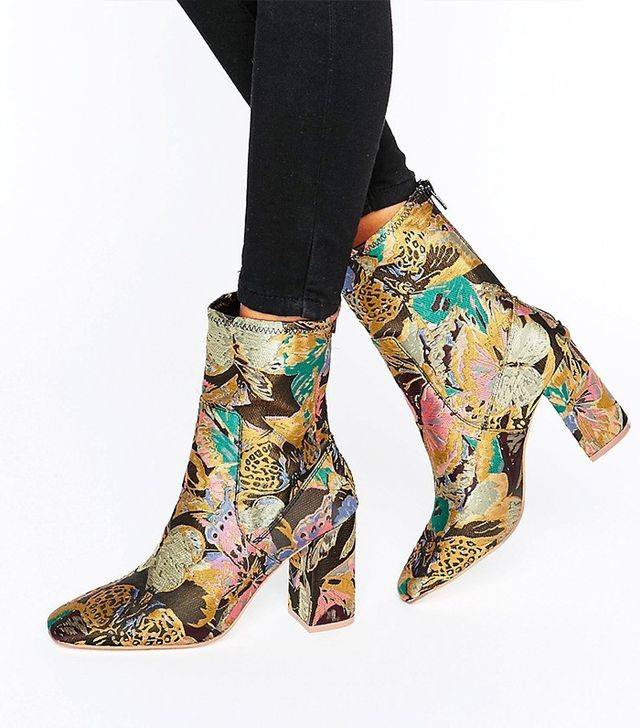 ASOS Elmery Jacquard Ankle Boots