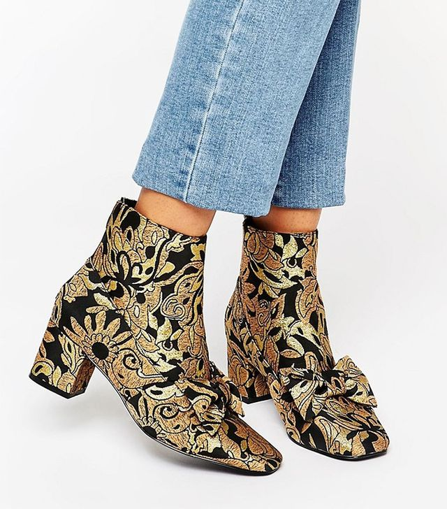 ASOS Rayal Bow Ankle Boots