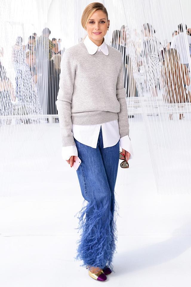 Olivia Palermo NYFW jeans