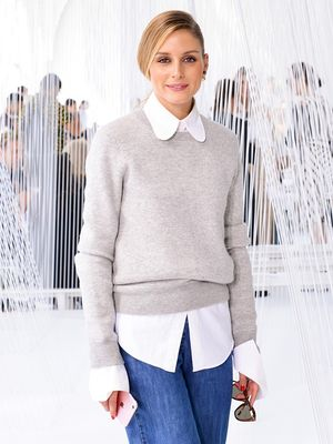 Olivia Palermo Wore the Most Fascinating Jeans to This Runway Show