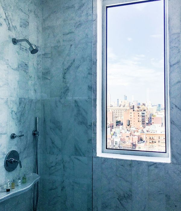 """""""Waking up inour hotel, with this breathtaking view of a sun-soaked NYC. What a great way to start NYFW!"""""""