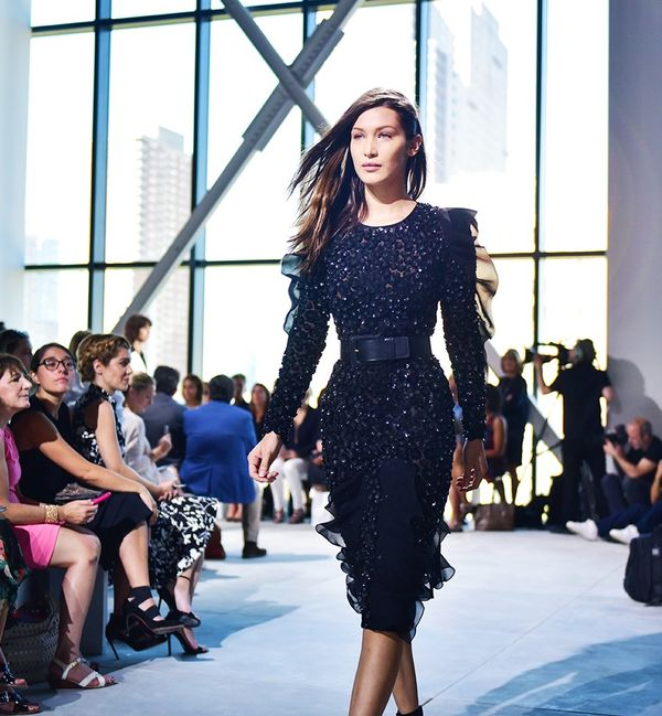 """""""Bella Hadid looking gorgeous as ever in this beaded dress."""""""