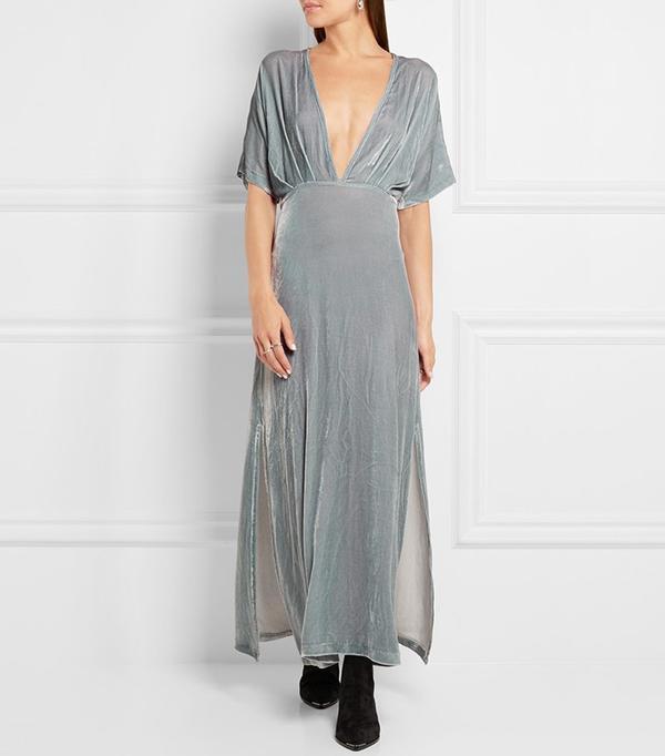 Ganni Velvet Maxi Dress