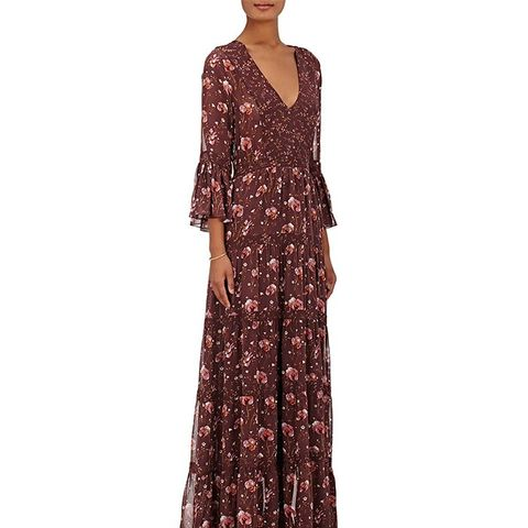 Aurora Silk Georgette Maxi Dress