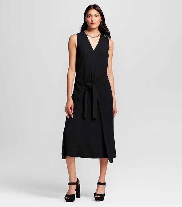 Who What Wear Tie Front Dress