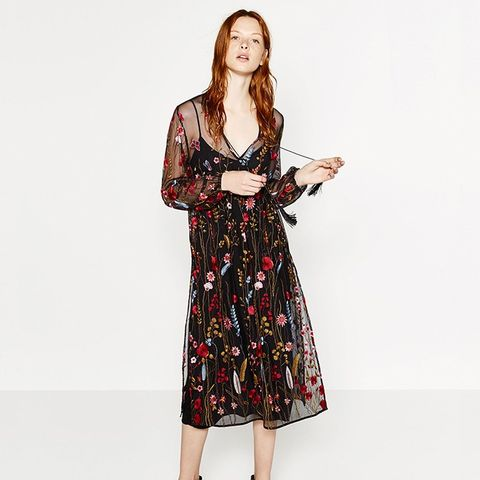 Long Embroidered Dress