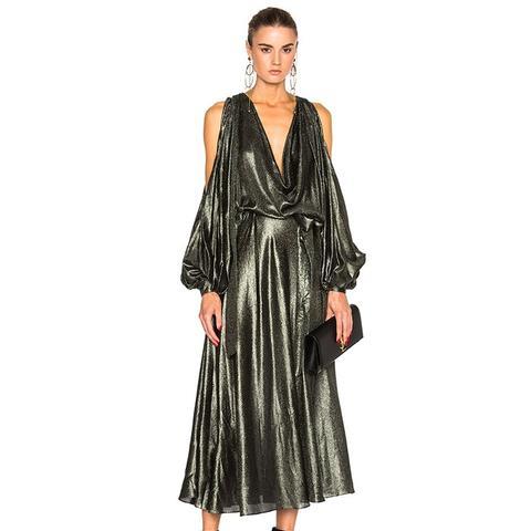 Karmic Metallic Billow Dress