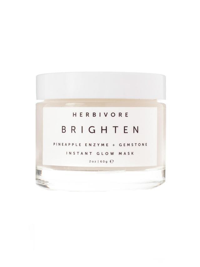 Herbivore Botanicals Brighten Pineapple Enzyme + Gemstone Mask