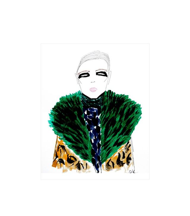The Cartorialist Black Eyes Green Fur