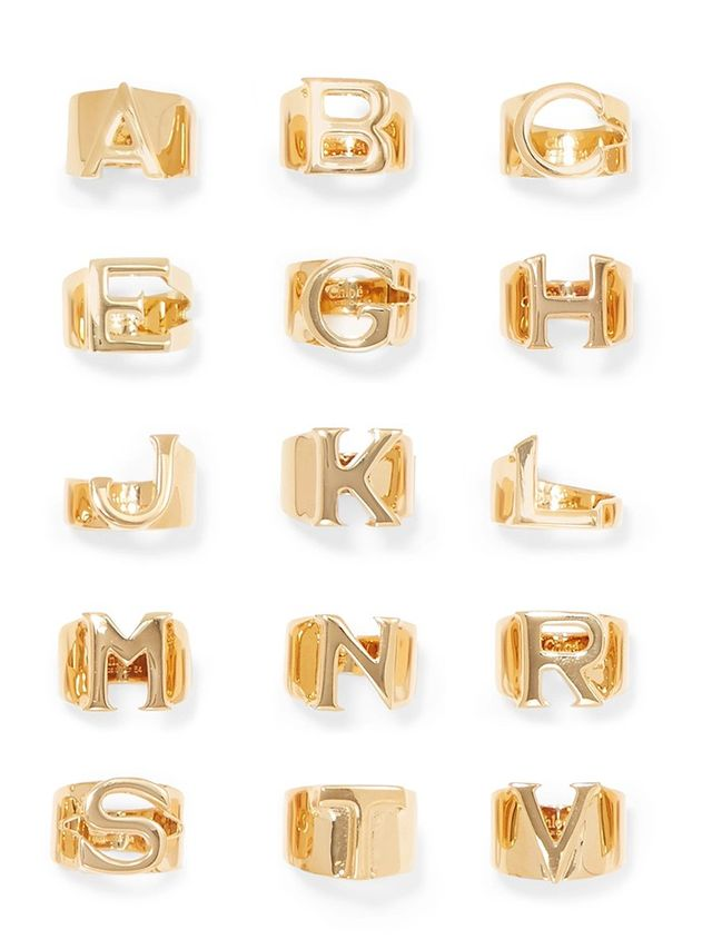 Chloé Alphabet Gold-Plated Ring