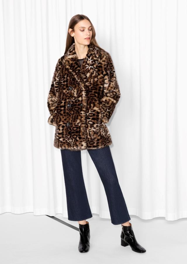 & Other Stories Leo Faux Fur Coat