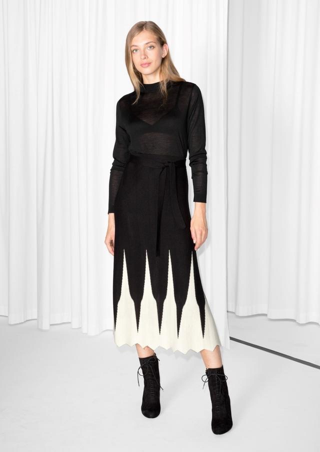 & Other Stories Merino Wool Knit Skirt