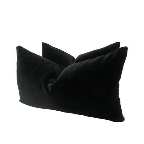 Belgian Black Velvet Pillows