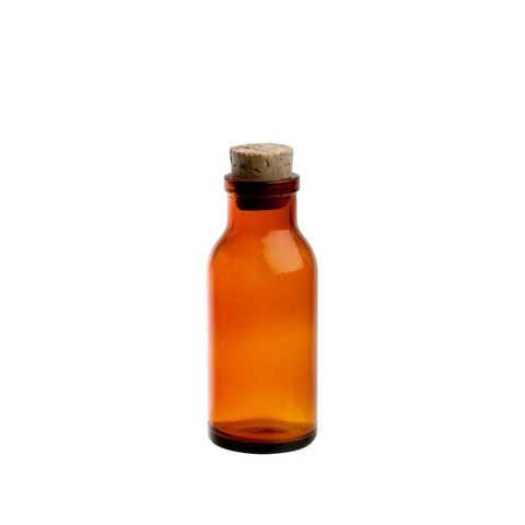 French Amber Apothecary Bottle