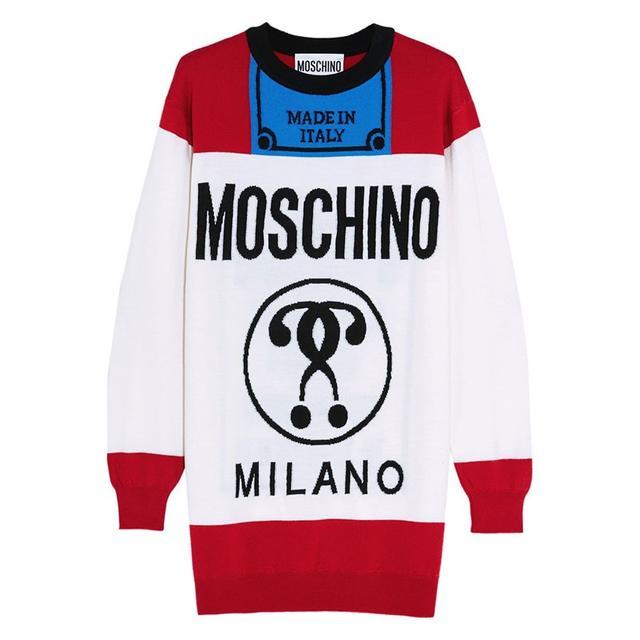 Moschino Intarsia Oversized Wool Sweater