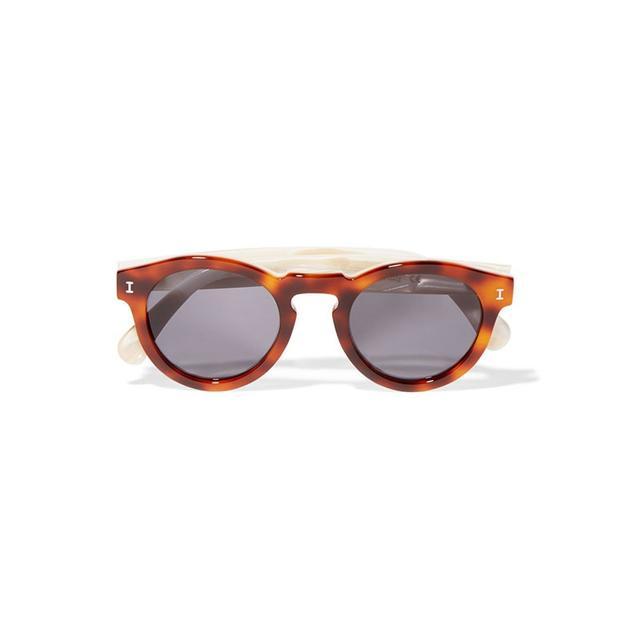 Illesteva Leonard Round Frame Sunglasses