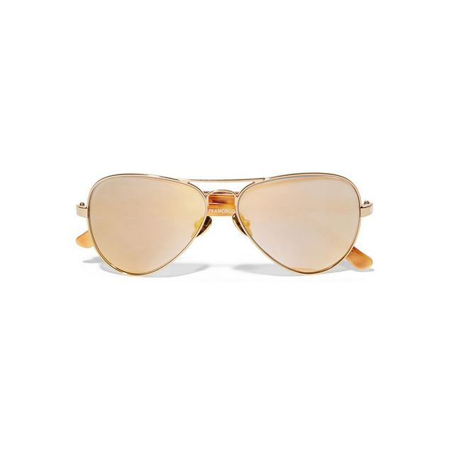 Westward Leaning Concorde 10 Aviator-Style Acetate and Gold-Tone Sunglasses