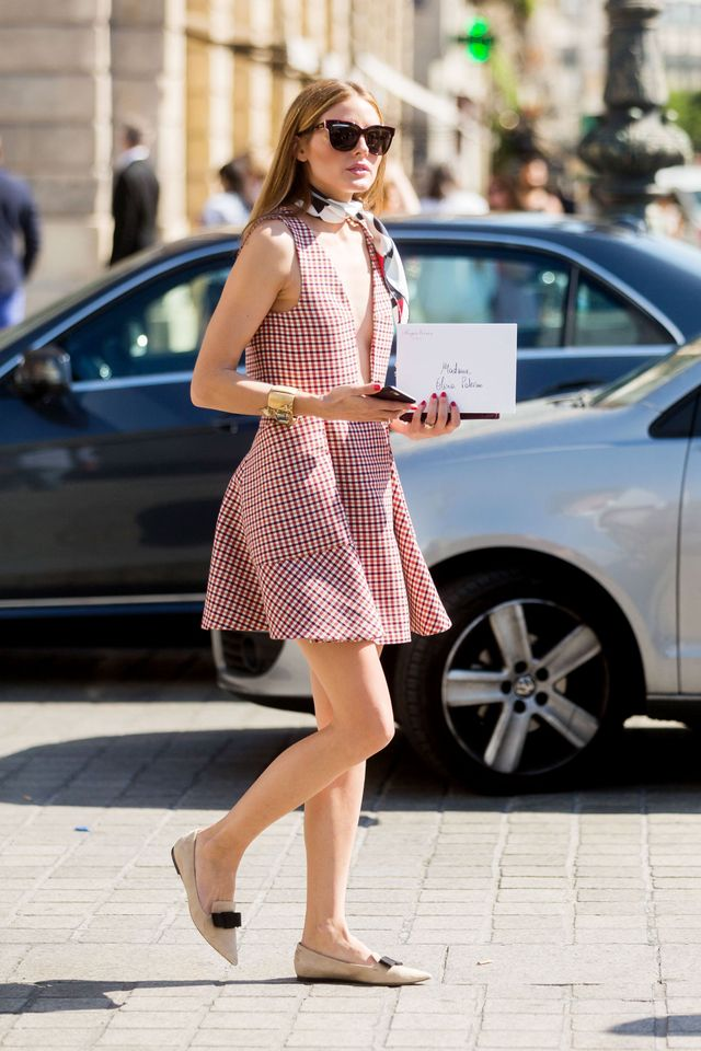 On Palermo:Christian Dior dress and shoes.