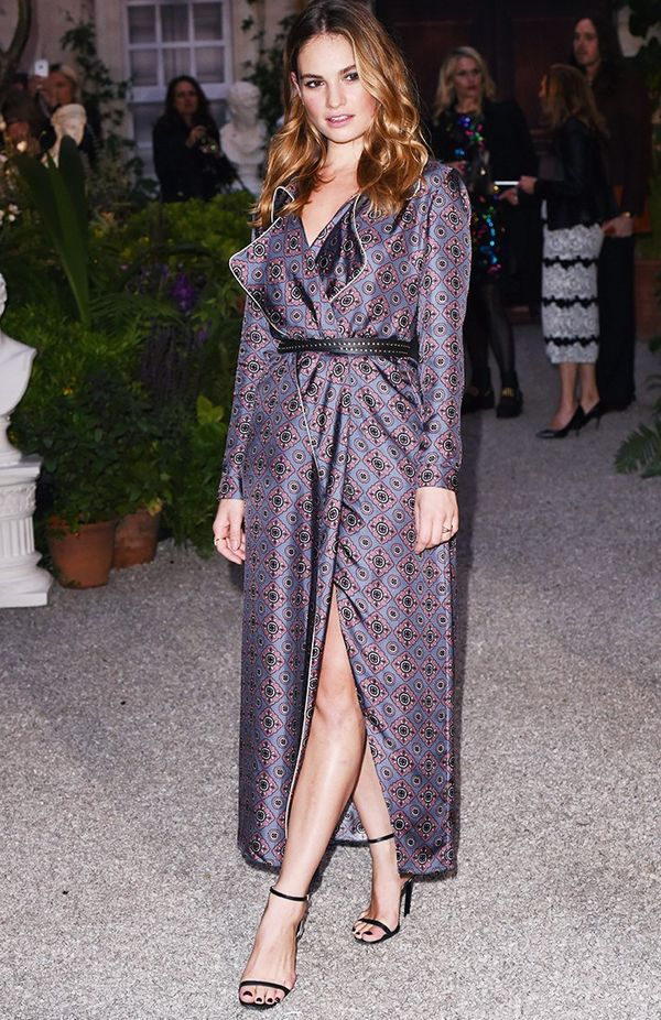 WHO: Lily James WHAT:Burberry S/S 17 show