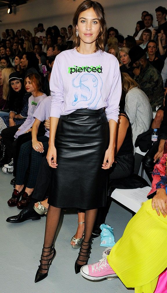 Alexa Chung during London Fashion Week