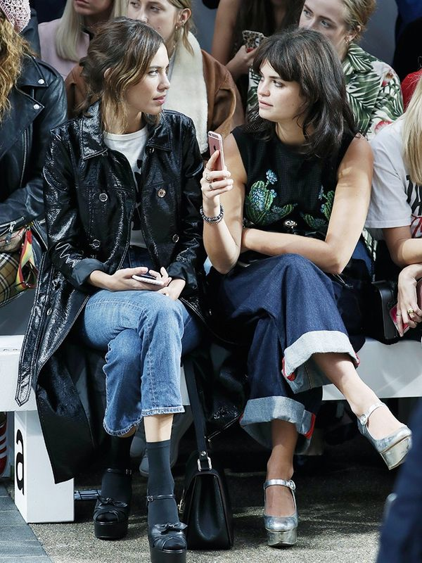 WHO:Alexa Chung and Pixie Geldof WHAT:House of HollandS/S 17