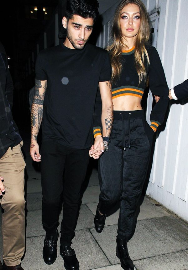 WHO: Gigi Hadid and Zayn Malik WHAT: Out and about in London during London Fashion Week