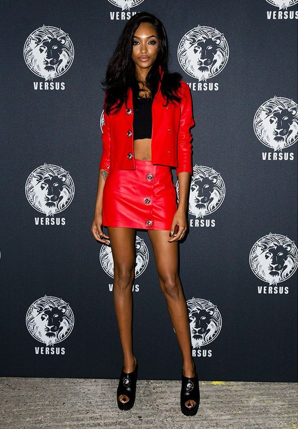 WHO: Jourdan Dunn WHAT: Versace Versus Show