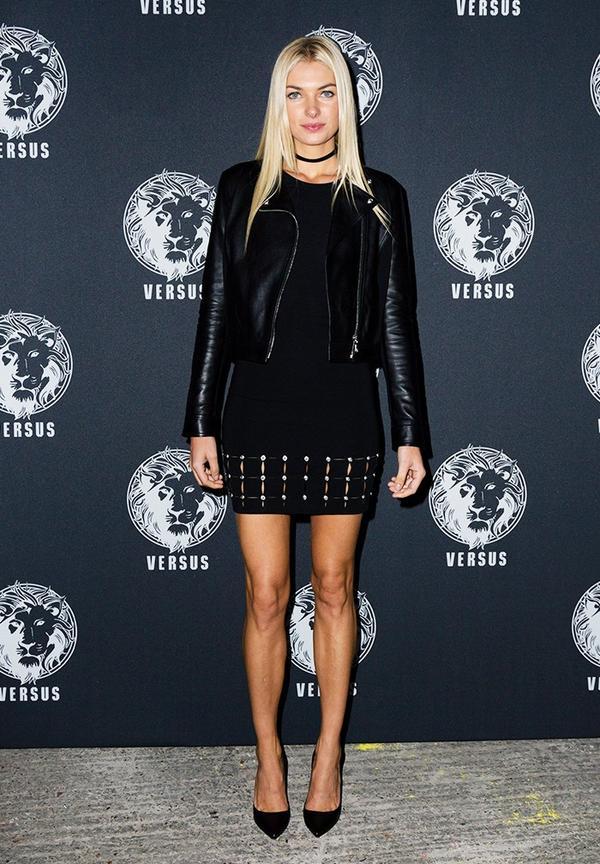 WHO: Jessica Hart WHAT: Versace Versus Show