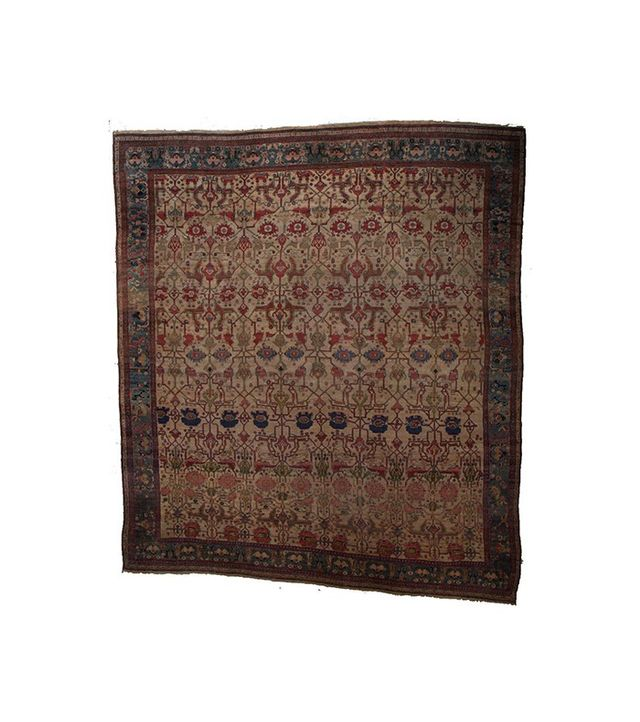 Lawrence of La Brea Antique Malayer in Beige/Blue