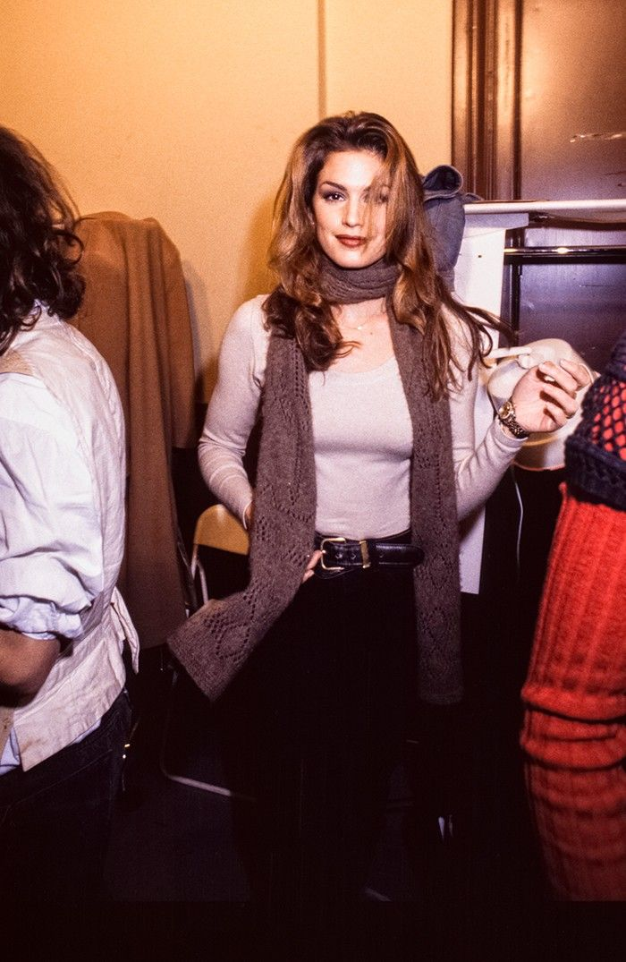 Cindy Crawford Chanel backstage 1990s