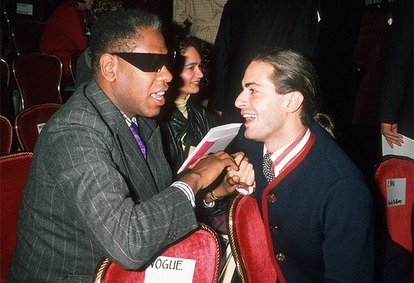 André Leon Talley and Marc Jacobs, 1990 fashion show