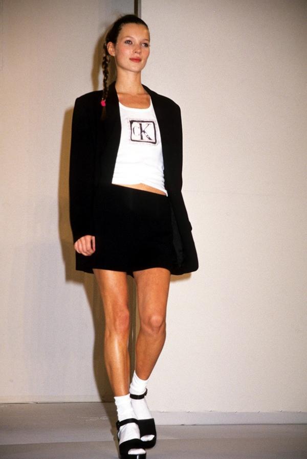 Kate Moss Calvin Klein runway