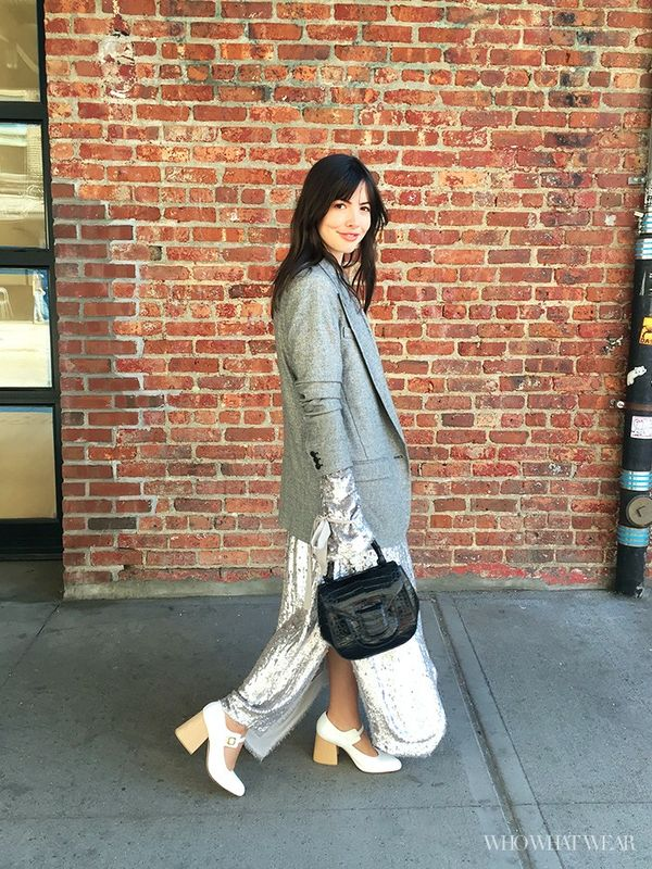 Who What Wear editorial director Kat Collings at NYFW