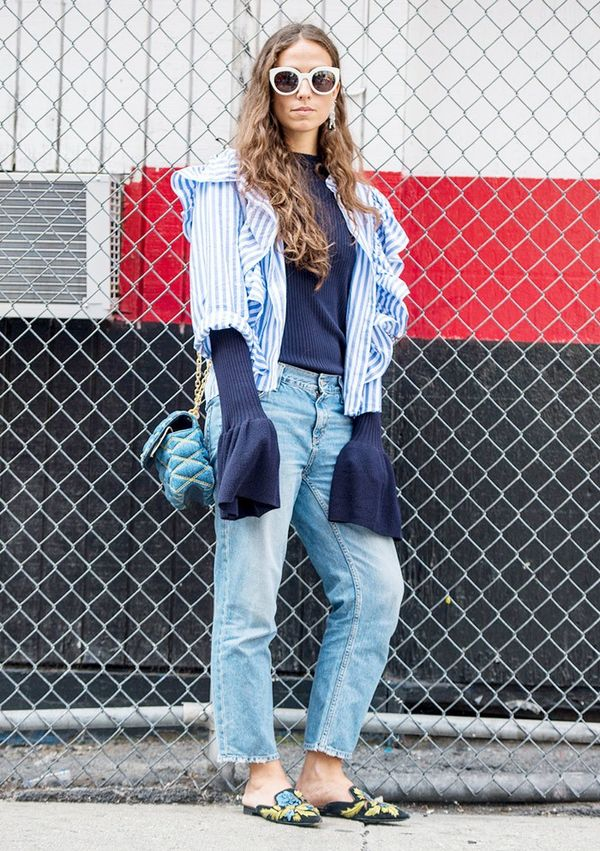 Wear Them With: Bell-sleeve top + vintage-inspired jeans