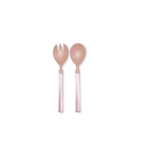 Pink Lucite Serveware Set