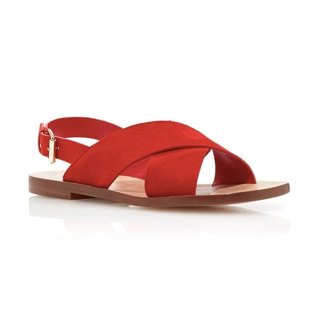 Mansur Gavriel Flat Suede Crossover Sandals